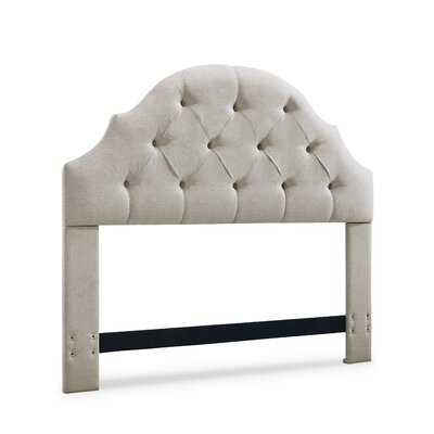 Joyce Upholstered Panel Headboard Size: Full/Queen, Upholstery: Linen