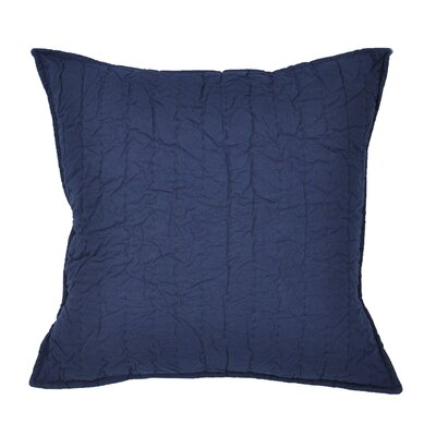 Hessville Cotton Throw Pillow Color: Navy