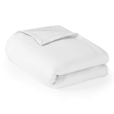 Rye Cotton Throw Blanket Size: Twin, Color: White