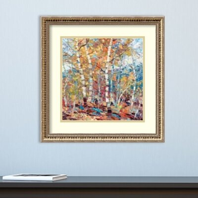 'Birch Colors 1' Framed Graphic Art Print