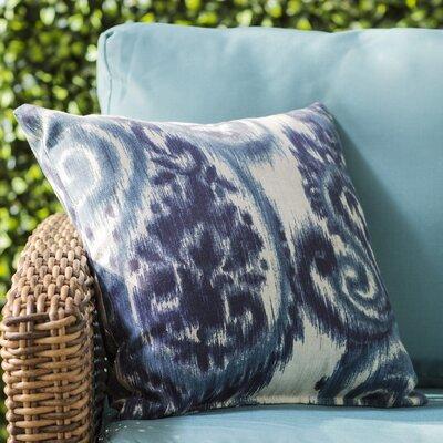 Paisley Outdoor Throw Pillow Color: Sorista Indigo