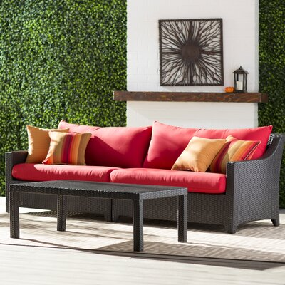 Northridge 2 Piece Deep Seating Group with Cushion Fabric: Cantina Red