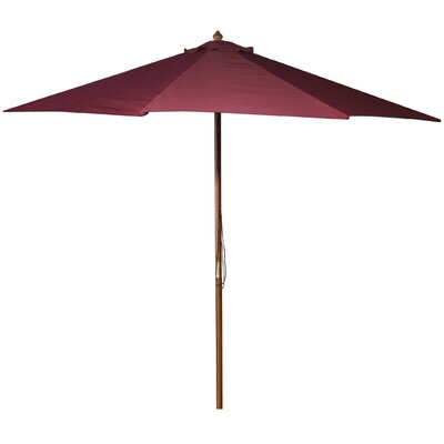 New Haven 9 Market Umbrella Fabric: Burgundy