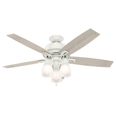 52 Donegan 5-Blade Ceiling Fan Finish: Fresh White