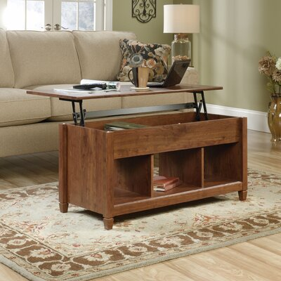 Lamantia Lift Top Coffee Table Color: Auburn Cherry