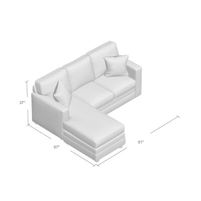 Hainesville Sectional Upholstery: Conversation Pearl