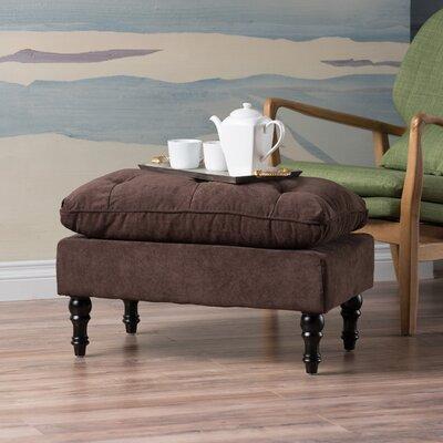 Scipio Tufted Ottoman Color: Brown