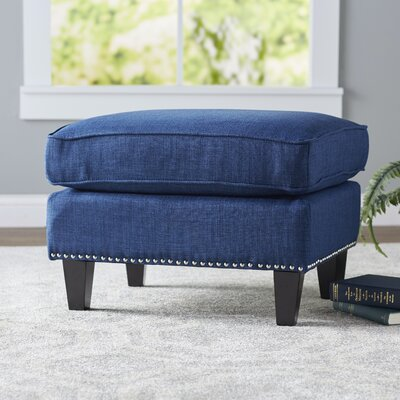 Rotterdam Ottoman Upholstery: Blue