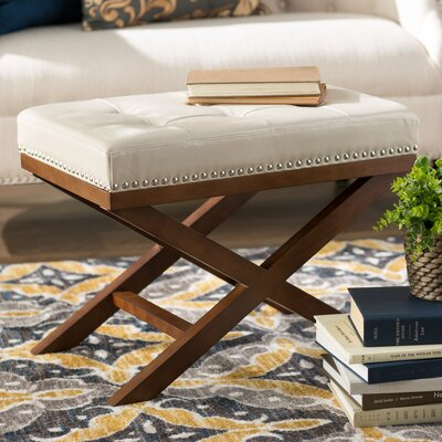 Lewiston X Bench Ottoman Upholstery: Cream