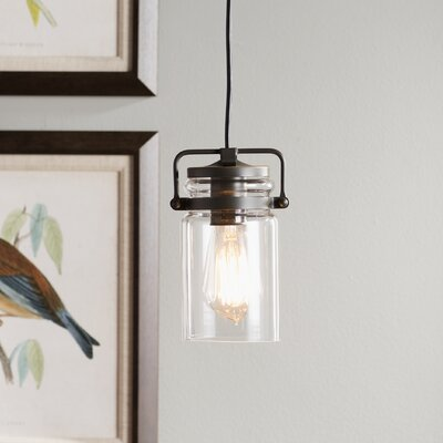 Ehrhart 1-Light Mini Pendant Finish: Olde Bronze