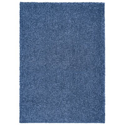 Broncho Blue Solid Area Rug Rug Size: 5 x 7