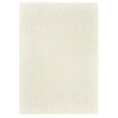Broncho White Area Rug Rug Size: 76 x 96