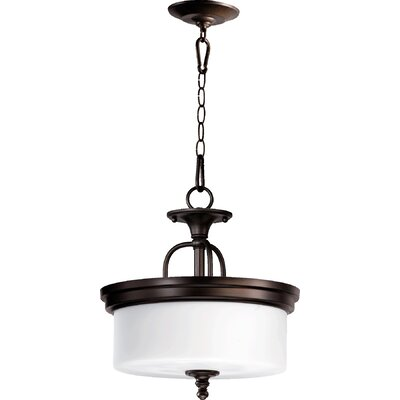 Heyworth 3-Light Dual Mount Inverted Pendant Finish: Oiled Bronze