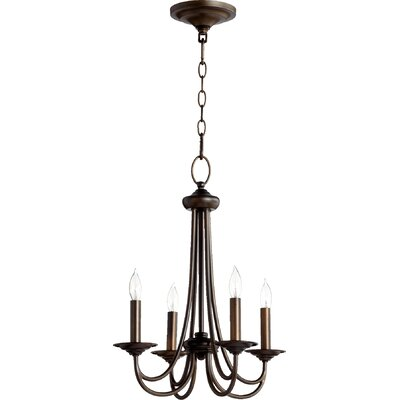 Hewlett 4-Light Candle-Style Chandelier Finish: Oiled Bronze