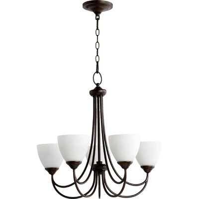 Hewlett 5-Light Shaded Chandelier