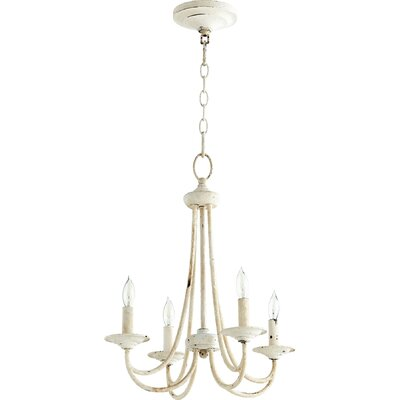 Hewlett 4-Light Candle-Style Chandelier Finish: Persian White