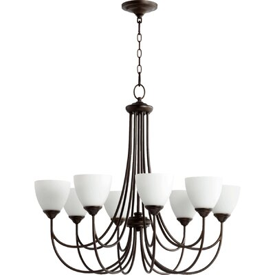 Hewlett 8-Light Shaded Chandelier