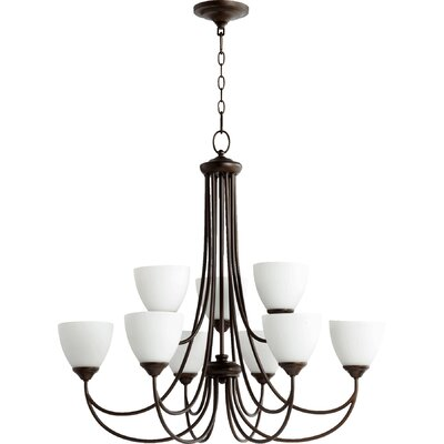 Hewlett 9-Light Shaded Chandelier