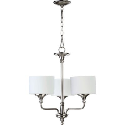 Heyworth 3-Light Drum Chandelier Finish: Satin Nickel