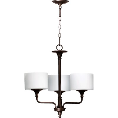 Heyworth 3-Light Drum Chandelier Finish: Oiled Bronze
