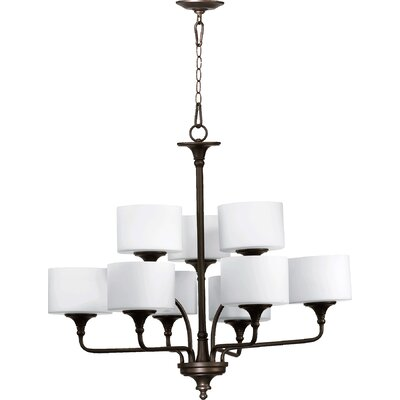 Heyworth 9-Light Shaded Chandelier Finish: Oiled Bronze