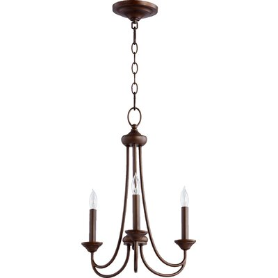 Hewlett 3-Light Candle-Style Chandelier Finish: Oiled Bronze