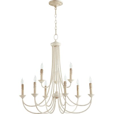 Hewlett 9-Light Candle-Style Chandelier Finish: Persian White