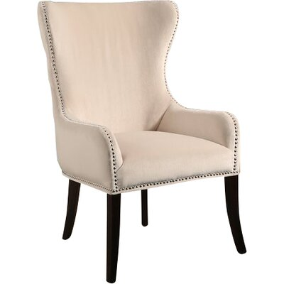 Alan Wingback Chair Upholstery: Ivory