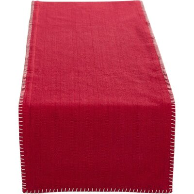 Hartigan Whip Stitched Table Runner Color: Red