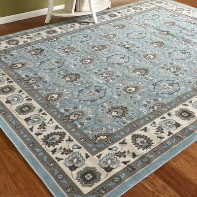 Klassen Aqua Indoor/Outdoor Area Rug Rug Size: Rectangle 79 x 102