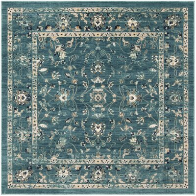 Morehouse Turquoise/Beige Area Rug Rug Size: Square 67