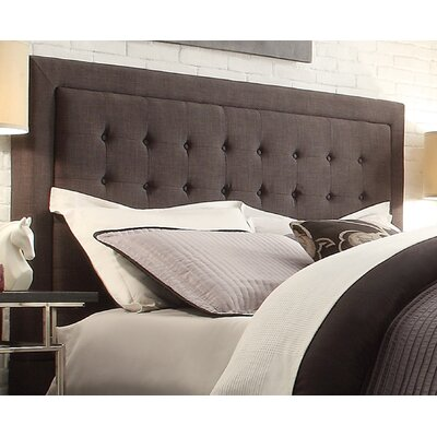 Woodside Upholstered Panel Headboard Size: Queen, Upholstery: Dark Gray