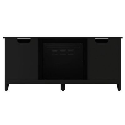 Jennings 54 TV Stand with Optional Fireplace Color: Black, Fireplace Included: Yes