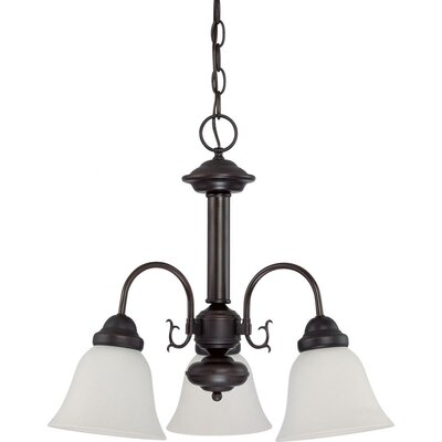 Gurney 3-Light Shaded Traditional Metal Chandelier Energy Star: Yes