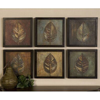 'New Leaf' 6 Piece Framed Painting Print Set