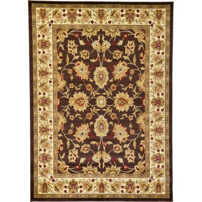 Fairmount Brown Area Rug Rug Size: Rectangle 7 x 10