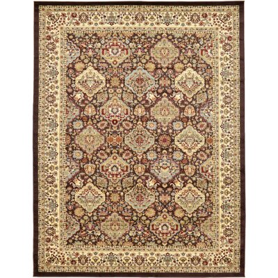 Fairmount Traditional Brown Area Rug Rug Size: Rectangle 9 x 12