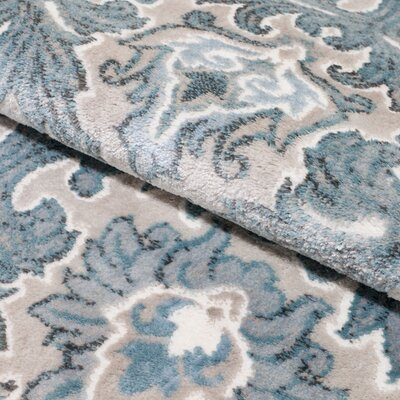 Hawley Blue Area Rug Rug Size: Rectangle 18 x 27