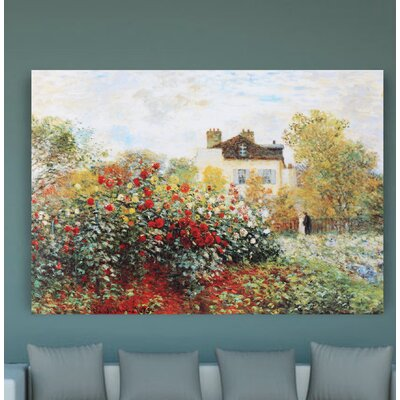 'Garden' by Claude Monet Graphic Art on Wrapped Canvas Size: 32