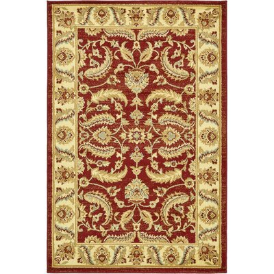 Fairmount Red Area Rug Rug Size: Rectangle 33 x 53