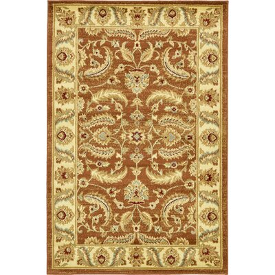Fairmount Brick Red Area Rug Rug Size: Square 4
