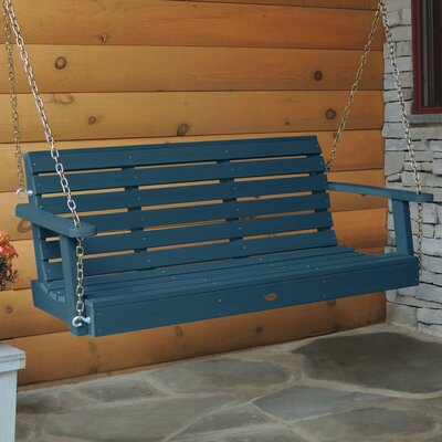 Schilling Weatherly Porch Swing Color: Nantucket Blue, Size: 20