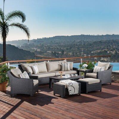 Northridge 8 Piece Deep Seating Group with Sunbrella Cushions Fabric: Slate