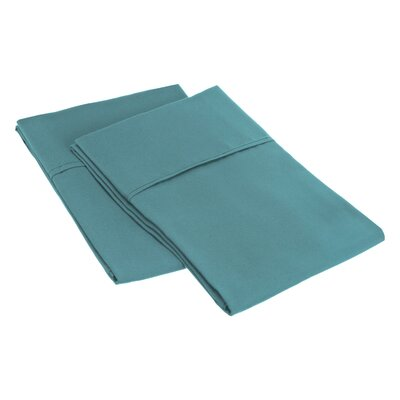 Sheatown Microfiber Solid Pillowcase Pair Size: King, Color: Teal