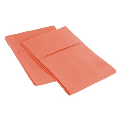 Sheatown Microfiber Solid Pillowcase Pair Size: Standard, Color: Coral
