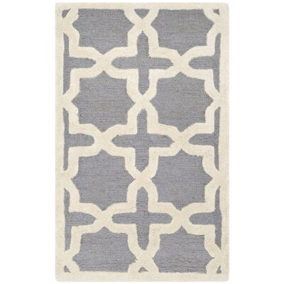Cherry Hill Hand-Tufted Gray/Ivory Area Rug Rug Size: Rectangle 26 x 4