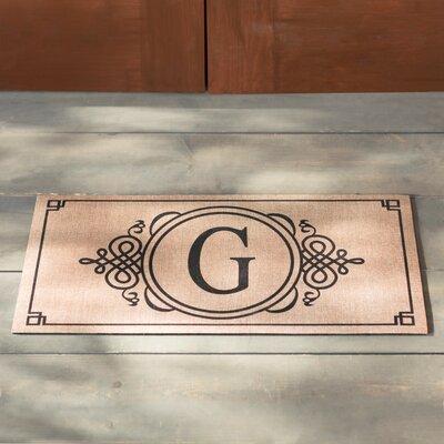 Driscoll Monogram Decorative Insert Doormat Letter: G