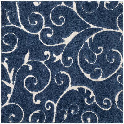 Alison Light Blue/Cream Area Rug Rug Size: Square 67