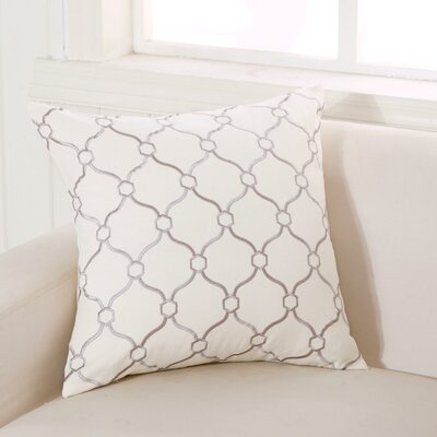 Allsop Decorative Throw Pillow Color: Cream and Dark Gray