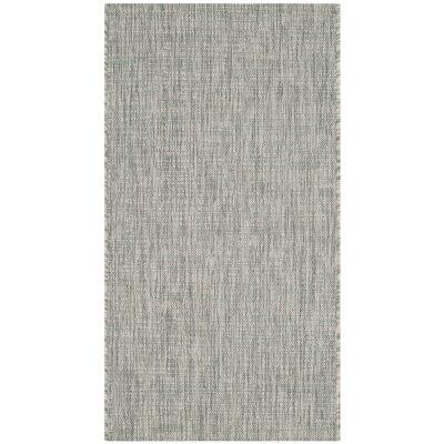 Adelia Gray/Turquoise Indoor/Outdoor Area Rug Rug Size: Rectangle 2 x 37